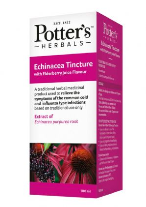 Potters Echinacea Tincture with Elderberry Juice Flavour